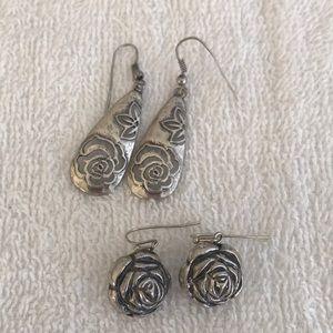 Jewelry - Earring Bundle - Silver Roses